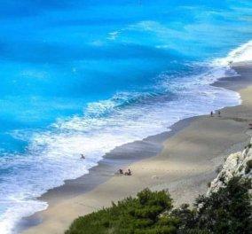 Εγκρεμνοί Λευκάδας: Καταγάλανα νερά σε μία πανέμορφη παραλία – Η φωτογραφία της ημέρας - Κυρίως Φωτογραφία - Gallery - Video