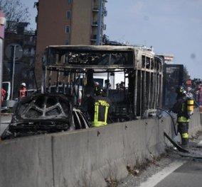 Ιταλία: Οδηγός σε κατάσταση αμόκ πυρπόλησε λεωφορείο γεμάτο παιδιά - Σκηνές πανικού - τραυματίες (φώτο-βίντεο) - Κυρίως Φωτογραφία - Gallery - Video