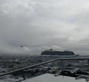 Νορβηγία: Θρίλερ με το κρουαζιερόπλοιο που εξέπεμψε SOS - Οι 1300 επιβάτες απομακρύνονται με ελικόπτερα (φώτο-βίντεο) - Κυρίως Φωτογραφία - Gallery - Video