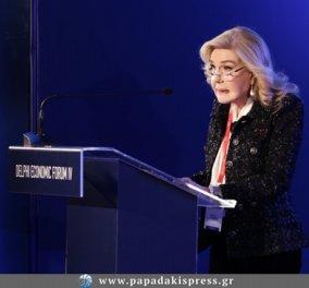 H Mαριάννα Β. Βαρδινογιάννη στο 4ο Οικονομικό Φόρουμ των Δελφών - Κυρίως Φωτογραφία - Gallery - Video