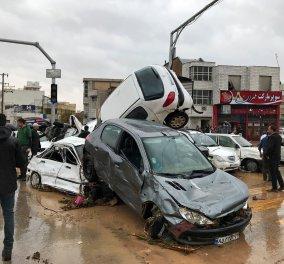 Συγκλονιστικές εικόνες και βίντεο που σοκάρουν από  τις πλημμύρες στο Ιράν -25 νεκροί δεκάδες τραυματίες   - Κυρίως Φωτογραφία - Gallery - Video