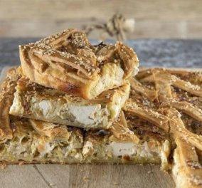 Άκης Πετρετζίκης: Θεσπέσια πρασοτυρόπιτα με πλούσια γέμιση τυρί, θυμάρι & ζύμη κουρού - Κυρίως Φωτογραφία - Gallery - Video