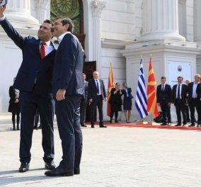 Η selfie Τσίπρα-Ζάεφ που… «έκλεψε την παράσταση» & η υποδοχή του Έλληνα Πρωθυπουργού στα Σκόπια (φωτό) - Κυρίως Φωτογραφία - Gallery - Video