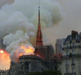 Θλίψη & δέος: Η Παναγία των Παρισίων στις φλόγες - Οι φοβερές εικόνες της καταστροφής σοκάρουν (φώτο) - Κυρίως Φωτογραφία - Gallery - Video