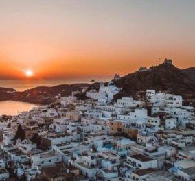 Ίος: Εκθαμβωτικό ηλιοβασίλεμα στο μαγευτικό Κυκλαδίτικο νησί - Η φωτογραφία της ημέρας - Κυρίως Φωτογραφία - Gallery - Video