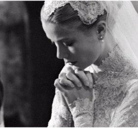 Υπέροχες Vintage Photos: Η πριγκίπισσα Γκρέις με το ονειρικό νυφικό της - Η πιο όμορφη νύφη όλων των εποχών  - Κυρίως Φωτογραφία - Gallery - Video