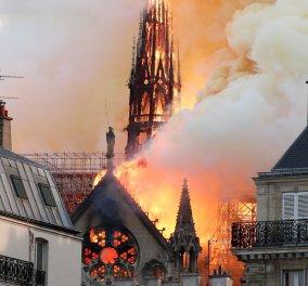 Παναγία των Παρισίων: Στη δημοσιότητα το πρώτο βίντεο από το εσωτερικό του ναού - Στάχτες και αποκαΐδια παντού - Κυρίως Φωτογραφία - Gallery - Video