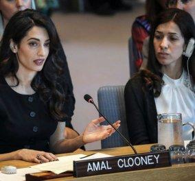 Η απόλυτη top woman Αμάλ Κλούνεΐ μίλησε στον ΟΗΕ και συνεπήρε με ομιλία και στυλ (φώτο-βίντεο) - Κυρίως Φωτογραφία - Gallery - Video