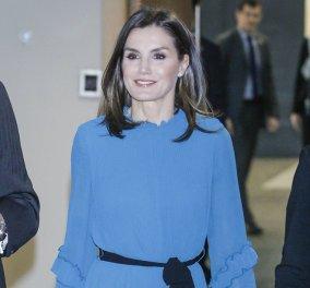 Κλασάτη και αριστοκρατική: Η βασίλισσα Λετίσια δίνει μαθήματα στυλ για άλλη μια φορά! - Δείτε το υπέροχο outfit της - Κυρίως Φωτογραφία - Gallery - Video