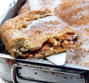 Η Αργυρώ Μπαρμπαρίγου προτείνει: Μοναδική νηστίσιμη μηλόπιτα με τσιχλωτό χαλβά & χωρίς αυγά!  - Κυρίως Φωτογραφία - Gallery - Video