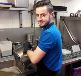 Ήρωα ανακηρύσσει το BBC το νεαρό Έλληνα Βασίλη που πλένει πιάτα σε εστιατόριο με  Michelin στο Λονδίνο (βίντεο) - Κυρίως Φωτογραφία - Gallery - Video