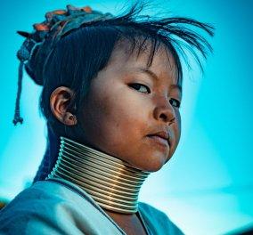Απίστευτα πορτραίτα με γυναίκες από την φυλή Kayan: Καλλιτέχνης αποθεώνει την ιδιαίτερη ομορφιά τους - Φώτο     - Κυρίως Φωτογραφία - Gallery - Video