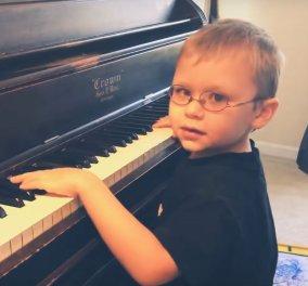Βίντεο: Μαγεύει ο 6χρονος μπόμπιρας πιανίστας – Έχει προβλήματα όρασης - Κυρίως Φωτογραφία - Gallery - Video