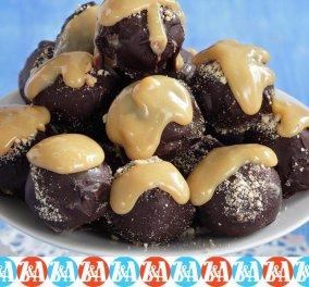 Λαχταριστά τρουφάκια μπανόφι με επικάλυψη σοκολάτας! - Κυρίως Φωτογραφία - Gallery - Video