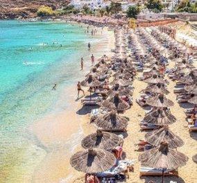 Η κοσμική παραλία Ψαρού της Μυκόνου στα πιο όμορφα χρώματά της - Απίθανη η φωτογραφία της ημέρας - Κυρίως Φωτογραφία - Gallery - Video
