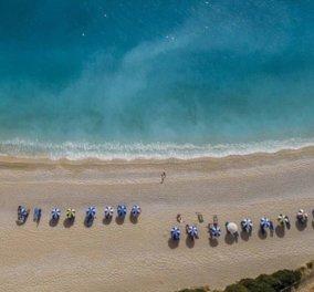Η διάσημη παραλία Πόρτο Κατσίκι στη Λευκάδα όπως δεν την έχετε ξαναδεί - Μοναδική η φωτογραφία της ημέρας - Κυρίως Φωτογραφία - Gallery - Video