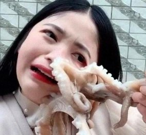 Χταπόδι επιτίθεται σε food blogger που πήγε να το φάει ζωντανό – Δείτε το βίντεο - Κυρίως Φωτογραφία - Gallery - Video