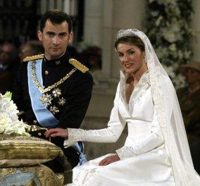 Η Βασίλισσα Λετίσια και ο Βασιλιάς Φελίπε έχουν επέτειο – Δείτε υπέροχες φωτό από τον φαντασμαγορικό γάμο τους πριν από 15 χρόνια - Κυρίως Φωτογραφία - Gallery - Video