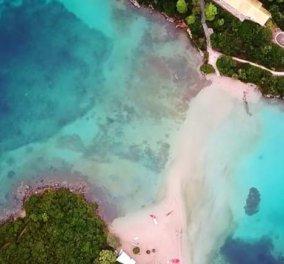 Βίντεο ημέρας - Μπέλα Βράκα: Η εξωτική Ροζ παραλία της Ηπείρου στα Σύβοτα από ψηλά - Κυρίως Φωτογραφία - Gallery - Video