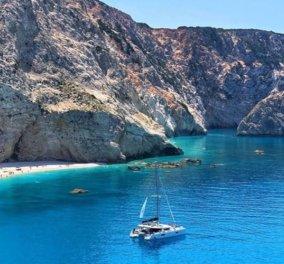 Πόρτο Κατσίκι: Από τις ομορφότερες παραλίες της Λευκάδας σε μία μαγευτική φωτογραφική λήψη - Κυρίως Φωτογραφία - Gallery - Video