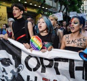 Αφιερωμένο στον Ζακ Κωστόπουλο το φετινό Athens Pride: Εκατοντάδες κόσμου στο Σύνταγμα - Αποθεώθηκε η  Φουρέιρα (φώτο -βίντεο) - Κυρίως Φωτογραφία - Gallery - Video