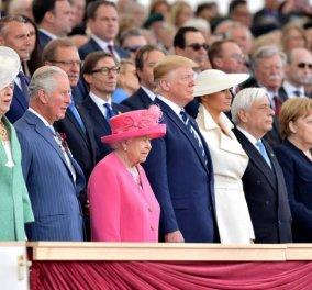 """""""Η Απόβαση στη Νορμανδία μας διδάσκει ...""""Ο Προκόπης Παυλόπουλος ανάμεσα στο ζεύγος Τραμπ & τη βασίλισσα Ελισάβετ (φώτο-βίντεο) - Κυρίως Φωτογραφία - Gallery - Video"""