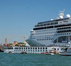 Βενετία: Τρόμος στη θάλασσα - Θηριώδες κρουαζιερόπλοιο με  2.679 επιβάτες συγκρούστηκε με πλοιάριο (φώτο-βίντεο) - Κυρίως Φωτογραφία - Gallery - Video