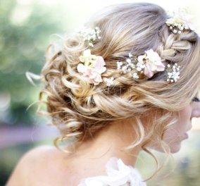 Υπέροχα νυφικά χτενίσματα με λουλούδια! - Για να εντυπωσιάσεις γαμπρό & καλεσμένους  - Κυρίως Φωτογραφία - Gallery - Video