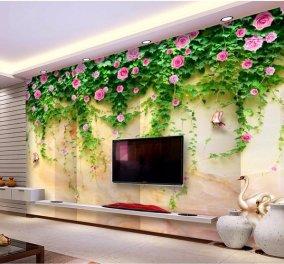 Ιδιαίτερες καλοκαιρινές ταπετσαρίες που θα μεταμορφώσουν τον χώρο σας - Χρώμα, λουλούδια και... φρούτα (φωτό) - Κυρίως Φωτογραφία - Gallery - Video