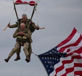 Good news: Βετεράνος, πήδηξε με αλεξίπτωτο στα 97 του για να τιμήσει την D-Day (φωτό - βίντεο) - Κυρίως Φωτογραφία - Gallery - Video