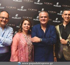 Λαμπερή παρουσίαση για τη νέα συλλογή Hublot Mykonos Limited Edition στο κοσμηματοπωλείο Gofas Jewelry στη Μύκονο (φώτο) - Κυρίως Φωτογραφία - Gallery - Video