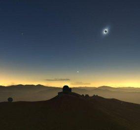 Ολική έκλειψη ηλίου αύριο Τρίτη - Η μοναδική έως το 2020 - Ποιοι τυχεροί θα τη δουν (φώτο) - Κυρίως Φωτογραφία - Gallery - Video