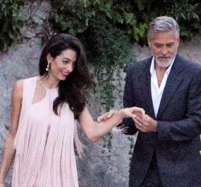 Δείπνο με την Στέλλα Μακάρτνεϊ: Η Αμάλ ροζ φουστάνι του ονείρου με κρόσια &ο Τζορτζ Κλούνει στο κλασικό αλα Τσίπρα στυλ ανευ γραβάτας (φωτό)  - Κυρίως Φωτογραφία - Gallery - Video