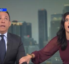 """Βίντεο: """"'Έχει αρκετή διάρκεια & είναι πολύ δυνατός""""- Το έντρομο βλέμμα των παρουσιαστών του CBS την στιγμή του μεγάλου σεισμού   - Κυρίως Φωτογραφία - Gallery - Video"""