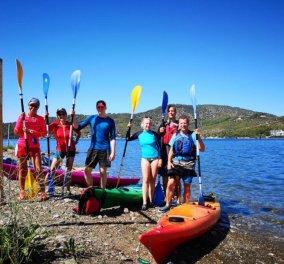 Made in Greece η Saronic Outdoor Activities: Ζευγάρι αθλητών μυούν τους τουρίστες του Πόρου στον αθλοτουρισμό: Sea kayak, stand up paddle, SUPilates, πεζοπορία, ποδηλασία & τρέξιμο - Κυρίως Φωτογραφία - Gallery - Video