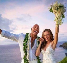 Παντρεύτηκε ο Ντουέιν «The Rock» Τζόνσον την 34χρονη μητέρα των δύο παιδιών του (φώτο) - Κυρίως Φωτογραφία - Gallery - Video