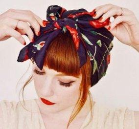 Το αγαπημένο αξεσουάρ του Dior στα μαλλιά μας - Ιδού τα 15 πιο ωραία χτενίσματα με φουλάρι (φώτο) - Κυρίως Φωτογραφία - Gallery - Video