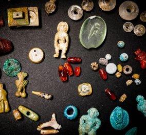 """Πομπηία: Κεχριμπάρια, λαμπεροί κρύσταλλοι, αμέθυστοι ήρθαν στο φως - Ο θησαυρός μιας """"μάγισσας"""" & η έπαυλη της (φώτο)  - Κυρίως Φωτογραφία - Gallery - Video"""