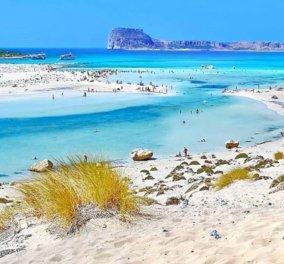 Μπάλος Κρήτης: Η παραμυθένια λιμνοθάλασσα με τη ροζ άμμο & τα τιρκουάζ νερά - Η φωτογραφία της ημέρας - Κυρίως Φωτογραφία - Gallery - Video