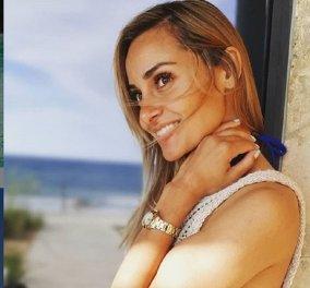 Η μέλλουσα μανούλα Βασιλική Μιλλούση απολαμβάνει τον ήλιο, χαϊδεύει την κοιλίτσα της & μας εύχεται καλό Σαββατοκύριακο (φώτο) - Κυρίως Φωτογραφία - Gallery - Video
