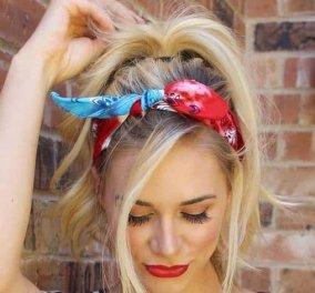 Πως φοριέται η μπαντάνα στα μαλλιά τώρα το καλοκαίρι– Ιδέες για χτενίσματα με στυλ - Κυρίως Φωτογραφία - Gallery - Video