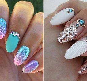 40 υπέροχα σχέδια για γοργονέ νύχια - Πως θα φτιάξετε τέλεια mermaid nails (φώτο-βίντεο) - Κυρίως Φωτογραφία - Gallery - Video