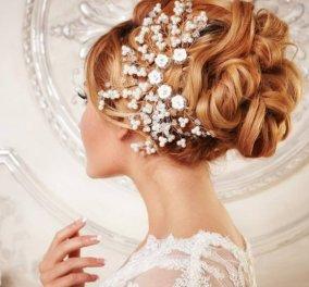 60 κομψά και ρομαντικά νυφικά χτενίσματα για μακριά μαλλιά- Για εντυπωσιακή γαμήλια εμφάνιση (φώτο) - Κυρίως Φωτογραφία - Gallery - Video