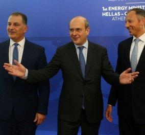 Στήριξη των ελληνικών και των κυπριακών θέσεων στην πρώτη διάσκεψη Ελλάδας - Κύπρου - Ισραήλ για την ενέργεια  - Κυρίως Φωτογραφία - Gallery - Video
