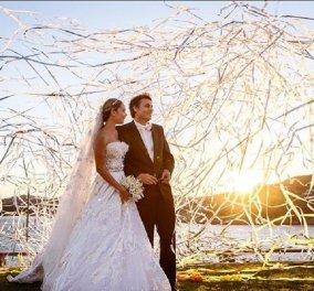 Ο γάμος του Νίκου Κριθαριώτη με την Ναστάζια Δαρίβα - Το νυφικό της Σήλιας & ο ρομαντικός χορός (φώτο-βίντεο) - Κυρίως Φωτογραφία - Gallery - Video