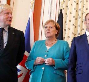 """Βρετανία: Ο Τζόνσον θα ζητήσει """"ενισχύσεις"""" από Γιούνκερ, Μέρκελ και Μακρόν για το Brexit  - Κυρίως Φωτογραφία - Gallery - Video"""