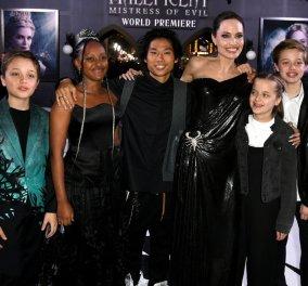 Μαθήματα στυλ από την Αντζελίνα Τζολί: Με μοβ Givenchy στη Ρώμη - Με μεταλλικό Ralph & Russo στο Τόκιο - Με μαύρο Versace με τα παιδιά της (φώτο)  - Κυρίως Φωτογραφία - Gallery - Video