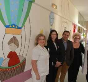 Topwoman η Μαρία Κισκίνη: Δίνει χρώμα στη ζωή των παιδιών -Ζωγράφισε χαρούμενες εικόνες στους τοίχους παιδιατρικής κλινικής  - Κυρίως Φωτογραφία - Gallery - Video