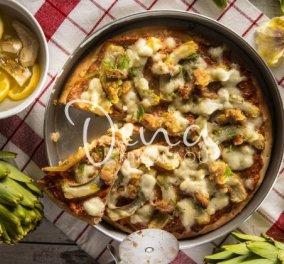 Η Ντίνα Νικολάου μας φτιάχνει μια διαφορετική πίτσα – Με αγκινάρες, λιαστή ντομάτα & σκόρδο - Κυρίως Φωτογραφία - Gallery - Video