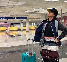 Viral: Αποφεύγει την επιπλέον χρέωση στο αεροδρόμιο φορώντας πολλαπλά στρώματα ρούχων! Φώτο  - Κυρίως Φωτογραφία - Gallery - Video